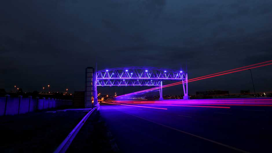 Toll road in Johannesburg