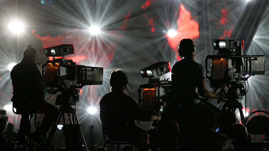 Filming at the Eurovision Song Contest